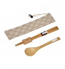 Bamboo Wood Chopstick and Spoon Set 竹木筷&汤匙套