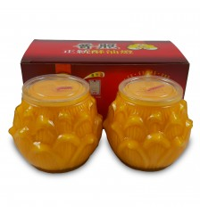 Butteroil Lamp - 3 Days 立体莲花酥油灯 - 3天 (2 pieces 粒)